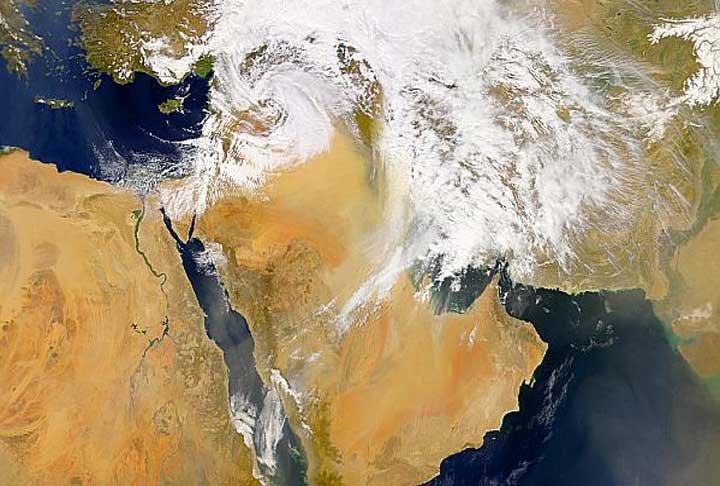 Arabian dust storm